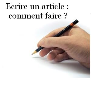 écrire un article, rédiger un article