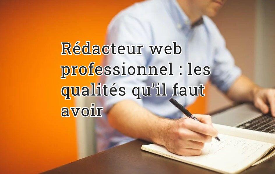 Rédacteur web professionnel