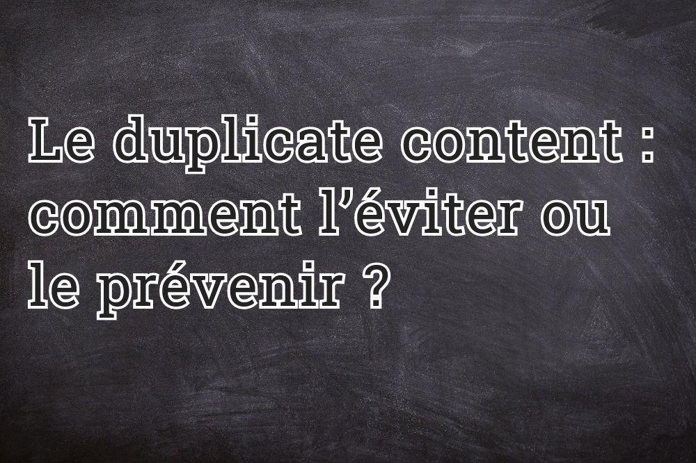 Le duplicate content : comment l'éviter ou le prévenir ?