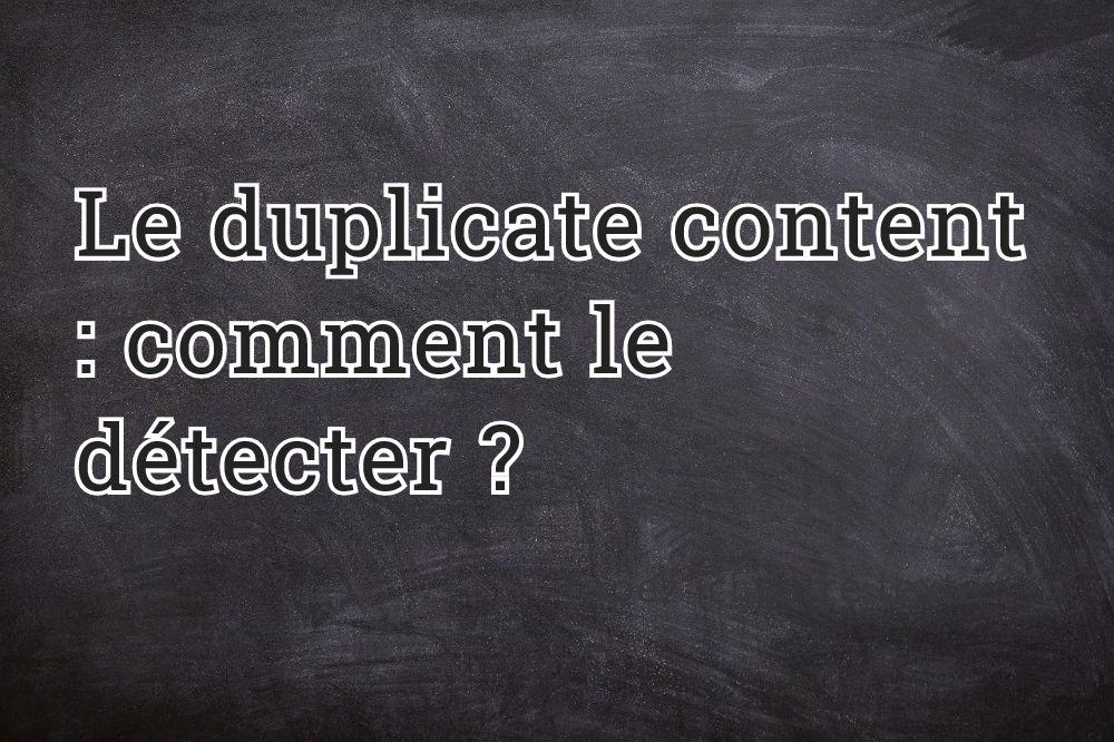 Le duplicate content : comment le détecter ?